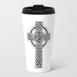 Celtic Knot Cross Tattoo Travel Mug