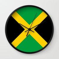 jamaica Wall Clocks featuring Jamaica by RickART