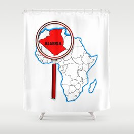 Algeria Under The Magnifying Glass Shower Curtain