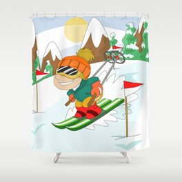 Winter Sports: Skiing Shower Curtain