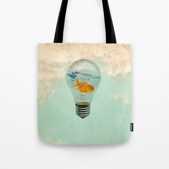 goldfish thinking Tote Bag