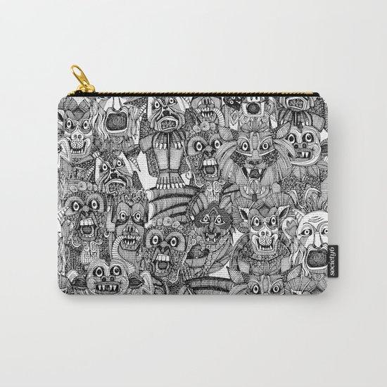gargoyles black white Carry-All Pouch