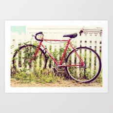Ivy Bike Art Print