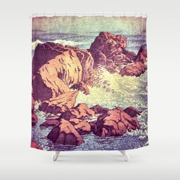 Stopping by the Shore at Uke Shower Curtain