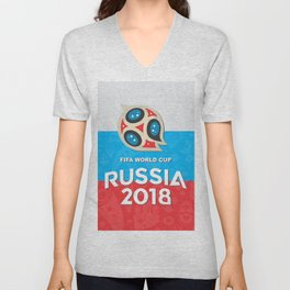 Russia world cup Unisex V-Neck