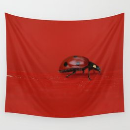 Lady on Red Wall Tapestry