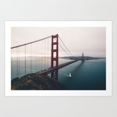 Golden Gate Bridge - San Francisco, CA Art Print