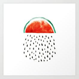 watermelon rain Art Print