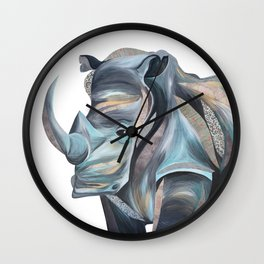 Rhonda the Rhino Wall Clock
