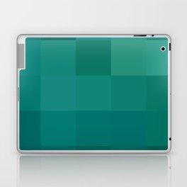 BLOCKS - GREEN TONES - 1 Laptop & iPad Skin