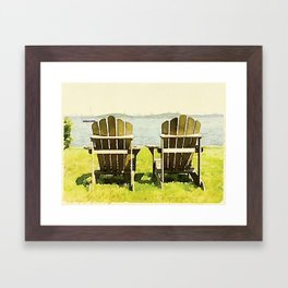 Adirondack Chairs, Maine Framed Art Print