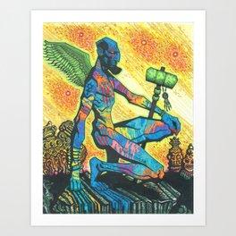 Warpaint Messenger Art Print