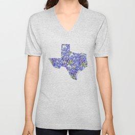 Texas in Flowers Unisex V-Neck
