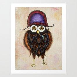 Admiral Hooterbottom Owl Art Print