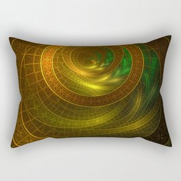 Inside the Boundless Cornucopia of an Endless Fractal Autumn Rectangular Pillow