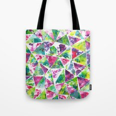 COLLAGE LOVE: Funky Triangles Tote Bag
