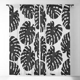Monstera Black & White III Blackout Curtain