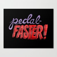 yowamushi pedal Canvas Prints featuring Pedal-Faster! by Chris Piascik