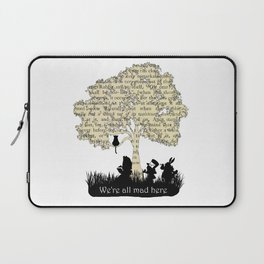 We're All Mad Here II - Alice In Wonderland Silhouette Art Laptop Sleeve