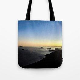 Sunset on the horizon Tote Bag