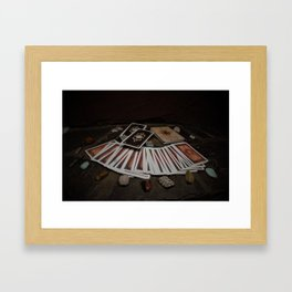 Card readings and Stones Framed Art Print