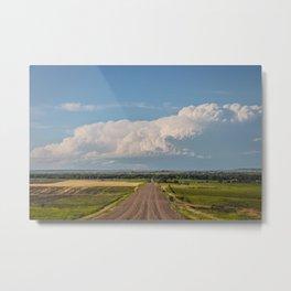 Summer Roads, Glasgow, Montana 4 Metal Print