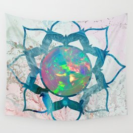 Psychedelic Crystal Lotus 2 Wall Tapestry