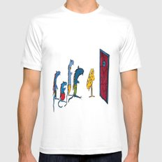 Four little mouses  MEDIUM White Mens Fitted Tee