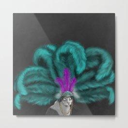The Vegas Cat Metal Print