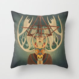 The Father Moose Throw Pillow