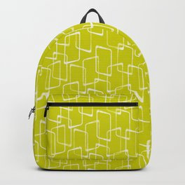 Lime Green Retro Geometric Pattern Backpack