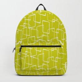 Lime Green Retro Geometric Pattern Backpack