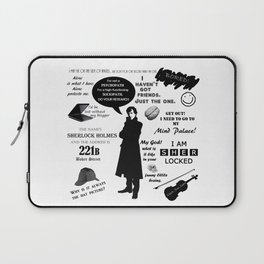 Sherlock Holmes Quotes Laptop Sleeve