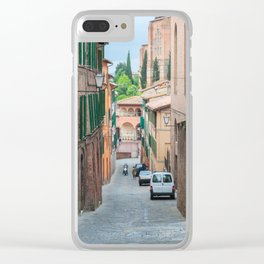 Walkway on in old town in Europe Clear iPhone Case