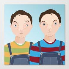 School Picture Day: the Dewey Boys Canvas Print