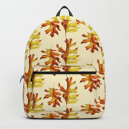 Ink And Watercolor Painted Dancing Autumn Leaves Backpack