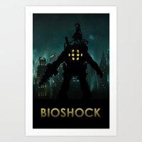bioshock Art Prints featuring Bioshock by Pixel Design