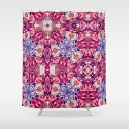 berry floral Shower Curtain