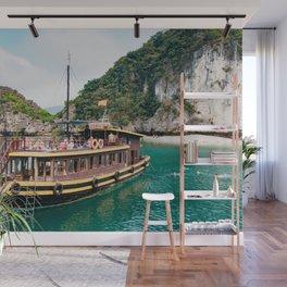 Vietnamese Boat in Halong Bay Wall Mural