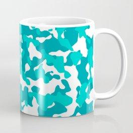 Camouflage Turquoise Teal Coffee Mug