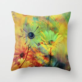 ME AND MY DAISIES Throw Pillow