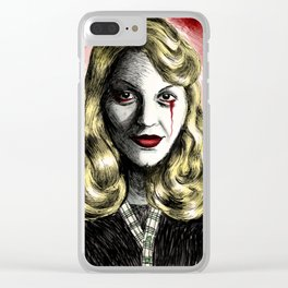 Sylvia Plath_Blood Red Clear iPhone Case