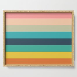 Colorful Timeless Stripes Totetsu Serving Tray