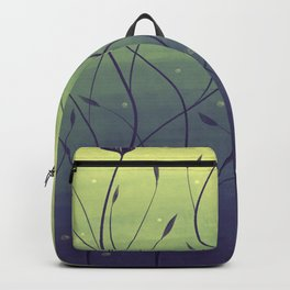 Purple Algae Plants In Green Water Backpack