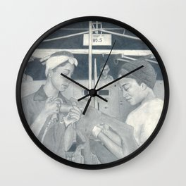 Women at Work Wall Clock