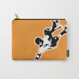 Skateboard Orange Crush It! Carry-All Pouch