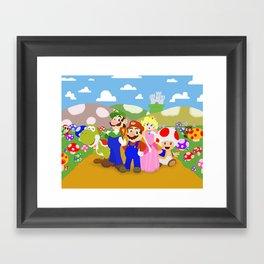 Mario & friends Framed Art Print