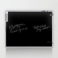 WHATEVER YOU DO /handtest/ Laptop & iPad Skin