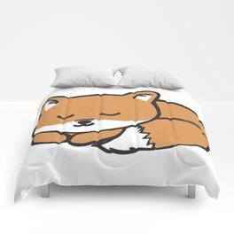 Sleeping Kawaii Fox Comforters