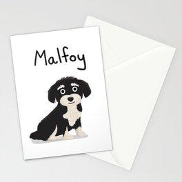 """Custom Dog Art """"Malfoy"""" Stationery Cards"""